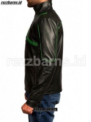Jaket kulit Green Latern